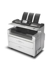 Die Schwarzweiß-Großformat-Multifunktionsdrucker  MP W7100SP und MP W8140SP von Ricoh.