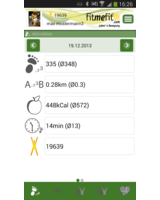 Screenshot aus der fitmefit-App für Android. Bild: HMM