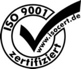 Ein klares Zeichen für Kunden und Geschäftspartner: Das ISOCERT-Logo.