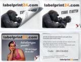 Digital gedrucktes Sandwichetikett für Promotions und Gewinnspiele.