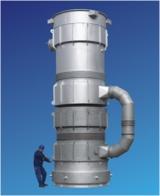 KREISEL-Rekuperator Gleich-/Gegenstrom mit Luftquench für Oxyfuel-Beheizung