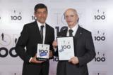 Übergabe der TOP 100-Auszeichnung durch Mentor Ranga Yogeshwar