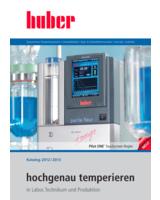 Der neue Katalog von Huber Kältemaschinenbau zeigt hochgenaue Temperierlösungen