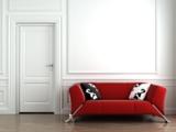 Design-Tür im Landhausstil mit 2 Felder und Rundkante in Acryl-Weißlack-Oberfläche.
