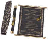 Ein Beispiel für schwarze Hochzeitseinladungen von RoyalDay