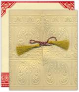 Die Hochzeitskarte mit edler Kordel und Umschlag