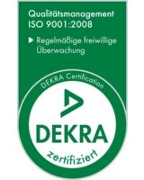 3B Scientific ist von der DEKRA gemäß ISO 9001:2008 zertifiziert