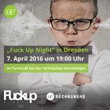 """Rechnung48 ist Sponsor der """"Fuck Up Nights"""" in Dresden"""