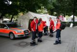 Die Sanitäter des ASB München versorgen die Besucher der Münchner Auer Dult