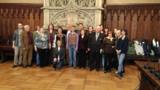 Die ukrainischen Besucher beim Empfang im Münchner Rathaus. Foto: ASB München