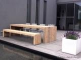 Bauholz Tisch von Exklusiv Dutch Design