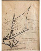 Segelboot auf dem Wasser - Egon von Kameke