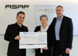 Gürsel Sen [CFO ASAP], Marianne Seidl [Vizepräsidentin SI Ingolstadt], Michael Neisen [CEO ASAP].