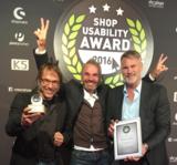 "Die Preisträger in der Kategorie ""Innovativster Shop"" beim Shop Usability Award 2016"