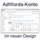 Ihr AdWords Konto im neuen Design