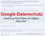 Google-Datenschutz: Löschung Ihrer Daten ist möglich - aber wie?