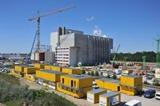 ELA Container prägten das Bild auch auf dieser Kraftwerksbaustelle in Spremberg mit.