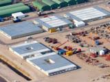 Die Containermodule stehen in direkter Nähe zum Arbeitsplatz.
