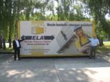Auf dem Gelände der Bayerischen Bauakademie zeigt ELA den drei Meter breiten Premium-Mietcontainer.