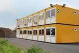 Die zweigeschossige ELA Anlage in Großbritannien dient als Unterkunft für Baustellen-Mitarbeiter.
