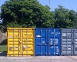 Sechs ELA-Lagercontainer stehen während der Aufräumarbeiten im Flutgebiet zur Verfügung.