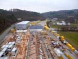 Der Neubau findet bei laufendem Betrieb des Container-Stützpunktes statt.