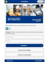 FairMate erlaubt Social Login auf den Online und Mobile Shops. Hier: interpack