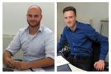 Nico Bascetta und Jann Pieper freuen sich auf die Ausbildungszeit. Quelle: ProImmobilia GmbH.