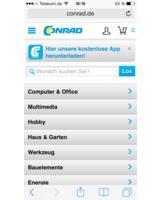 Die überarbeitete mobile Website von Conrad macht Shopping per Smartphone noch angenehmer.