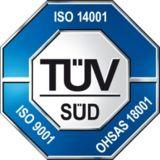 TÜV bestätigt erneut Höchstleistungen in Qualität, Arbeits- und Umweltschutz.
