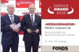 Verleihung des Service Award 2016 an die PROJECT Investment AG