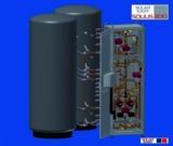 Das SOLIUS-Wärme-Center: eine kompakte Einheit im schlichten Design mit bis zu 2 Pufferspeichern