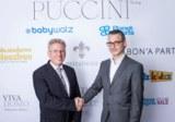 TNT Post Vertrag Puccini Dr. Rüdiger Gottschalk und Rainer Stäbler _von links