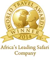"""Rhino Afrika wurde als """"Afrikas führendes Safari Unternehmen"""" ausgezeichnet."""