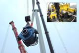 Getriebetausch einer MM92-Anlage. Oben rechts: Ansicht der Getriebebrücke