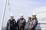 Beide Teams arbeiten in Zukunft zusammen. (c) Axel Boesten für seebaWIND Service GmbH