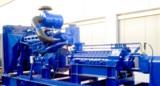 Dieselbetriebene Kesselspeisepumpe Typ HGC, ähnl. wie sie auch in Babelan zum Einsatz kommen werden.