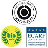 Auszeichnungen für POLOLO: IVN Naturleder, bio kreis, ECARF