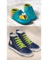 """Foto: POLOLO OHG - Berlin """"Biene Susi"""" (SOFT-Reihe) und Hanfsneaker (Footwear by nature)"""