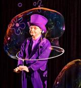 Seifenblasenkünstler Blub verzauberte das Publikum mit seiner Seifenblasenshow