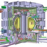 Bildunterschrift: Schnittbild des Fusionsreaktors ITER