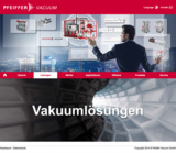 Die neue Vakuumlösungsseite zeigt das Portfolio in einer innovativen Erlebniswelt.