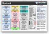 Hauptmenü der gFM-Business Unternehmenssoftware