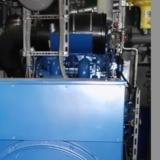 Biogasmotor im BHKW-Container