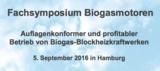 Fachvorträge für Biogas-BHKW-Betreiber