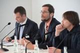 Auf dem Podium: Peter Becker, Prof. Dr. Volker Quaschning, Moderator Dierk Jensen