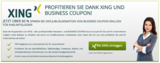 Business Coupon und Xing - Schlemmerblock 2014