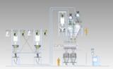 Zeichnung einer Pulver-Handling-Anlage für den Lebensmittelbereich.  Foto: HECHT Technologie GmbH