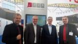 Die Geschäftsführer von JJK und vom News Verlag auf der World Publishing Expo 2014