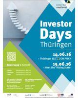Poster zu den Investor Days Thüringen (© STIFT)